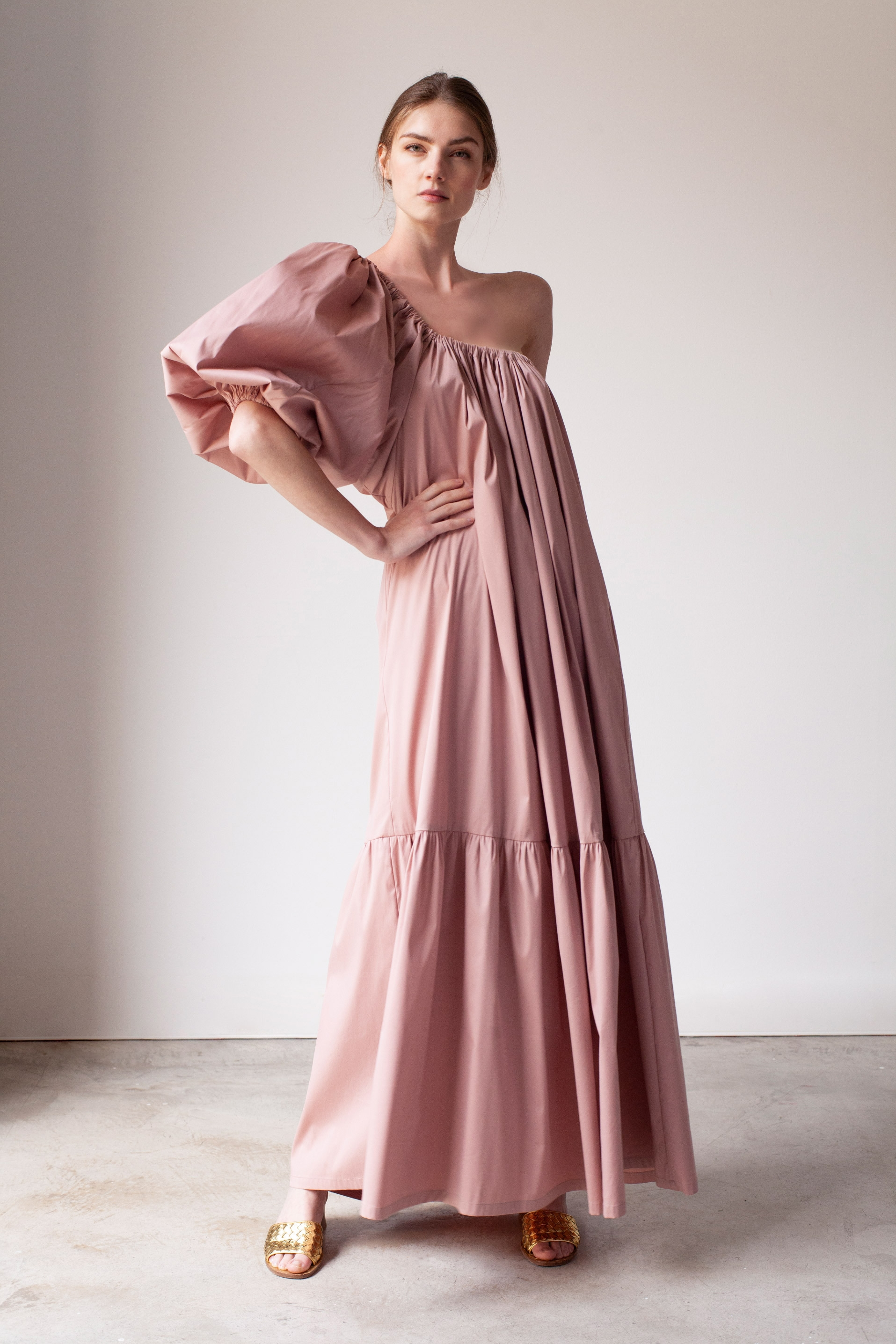 Romy Long Dress (Dusty Pink)
