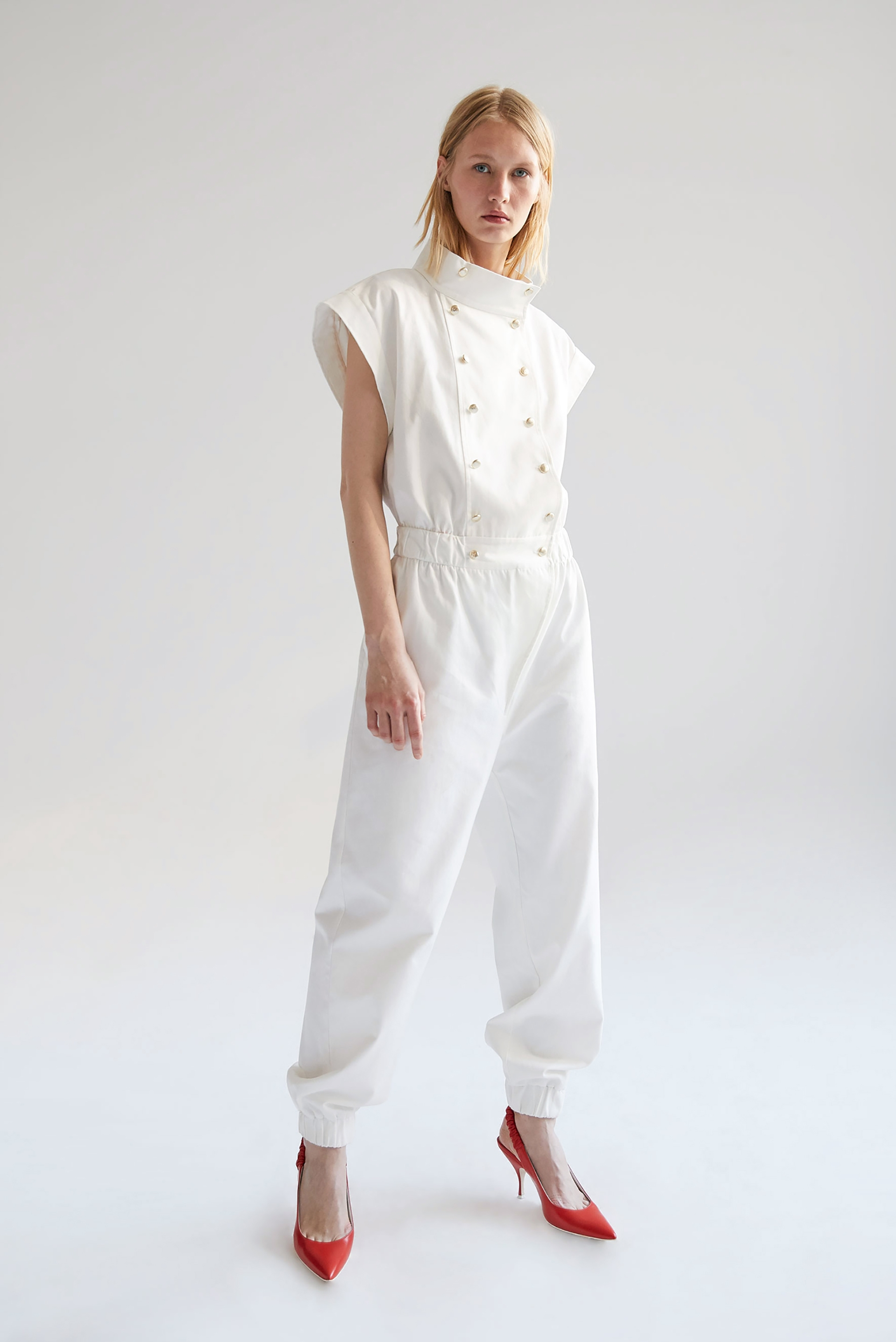 Vesper Jumpsuit (White)